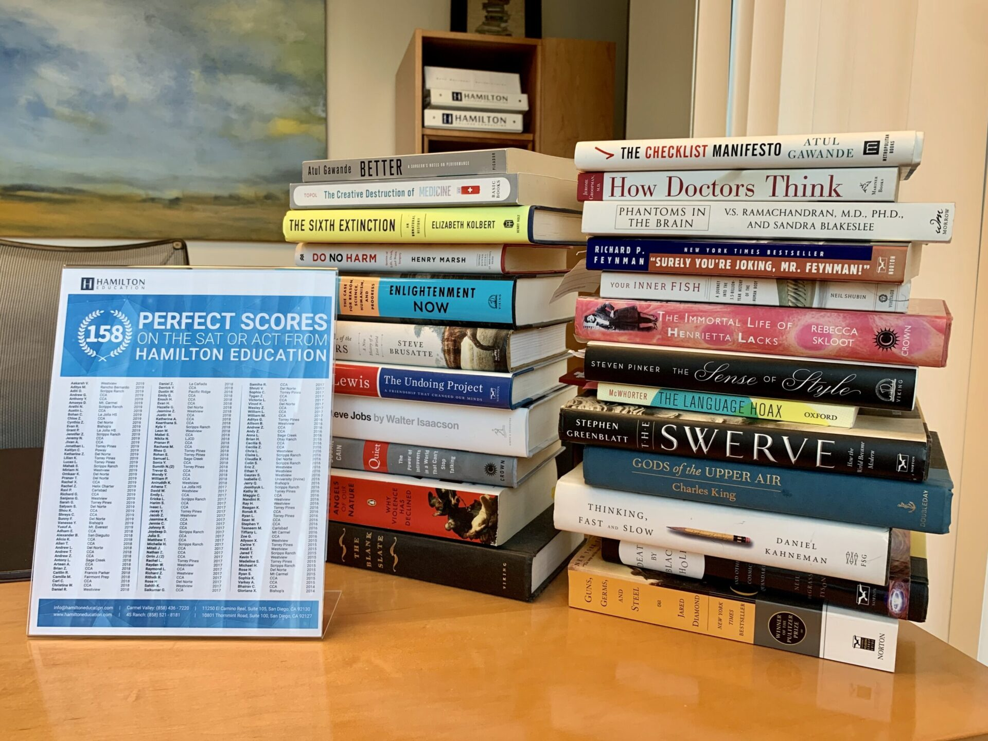 The Books on My Desk: Why Data is Better than Intuition, and Why Hamilton Education Has So Many Perfect Scores